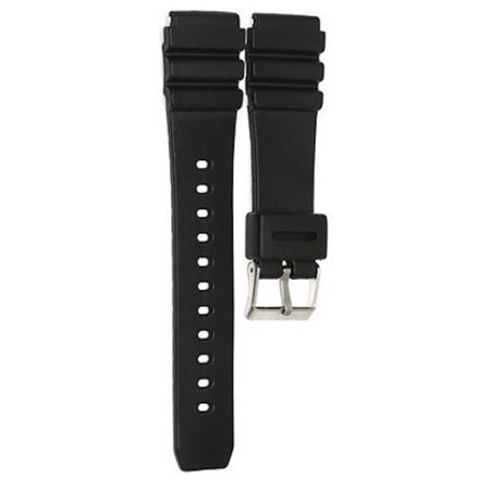 22mm Black Diver Rubber Watch Band Strap fits Casio AMW-320 AMW-330 AD-520 MD-70 ()