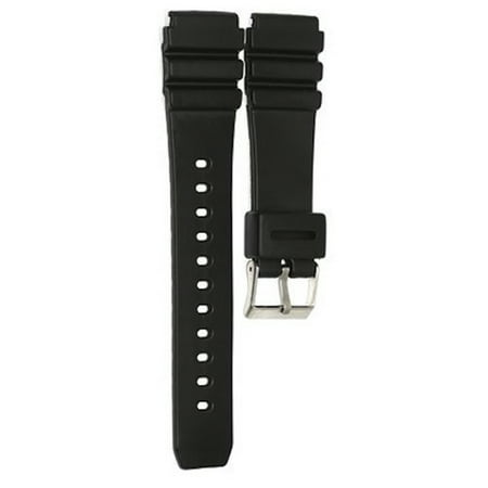 22mm Black Diver Rubber Watch Band Strap fits Casio AMW-320 AMW-330 AD-520 MD-70 (22mm Watch Band For Pebble)