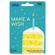 Vanilla Visa $50 Cake Slice Gift Card