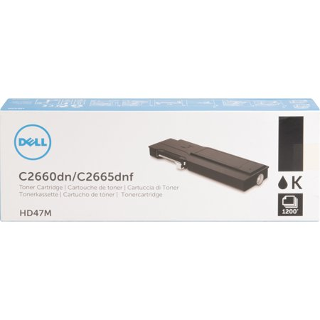 - Dell, DLLHD47M, 1,200-Page Black Toner Cartridge for C2660dn/ C2665dnf Color Laser Printer, 1 / Each