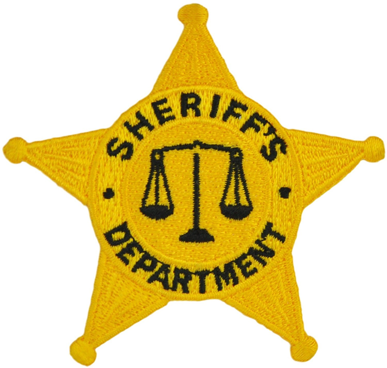 Tactical 365 Operation First Response 5 Point Star Sheriff Duty Emblem Patch - Silver