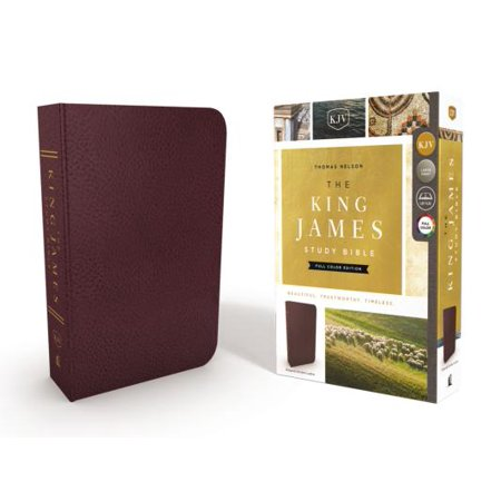 The King James Study Bible, Bonded Leather, Burgundy, Full-Color