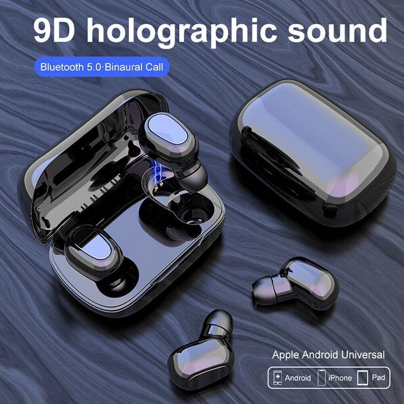 L21 Bluetooth 5 0 Headset Tws Wireless Earphones Stereo Mini Earbuds Headphones With Charging Box Walmart Com Walmart Com