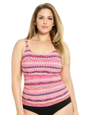 c8eb0d179a0f2 Product Image Christina D-Cup and Up Plus Size Tankini Swim Top - Pink