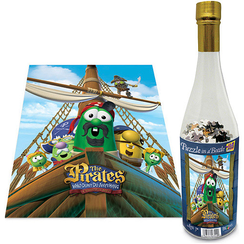 Veggies The Pirates That Don't Do Anything Puzzle in a Bottle, 200 Pieces