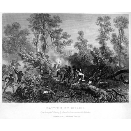 Battle Of Fallen Timbers Nanthony Waynes Legion At The Battle Of Fallen Timbers On The Banks Of The Maumee River Ohio 20 August 1794 Steel Engraving 1859 Poster Print By Granger Collection