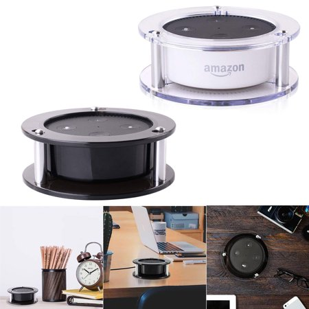 Acrylic Speaker Stand,Ceiling Wall Mount Protective Stand for Amazon Alexa Echo Dot (2nd Generation) Smart Home Décor Guard Station 1PACK (Random Color:Black/Clear)