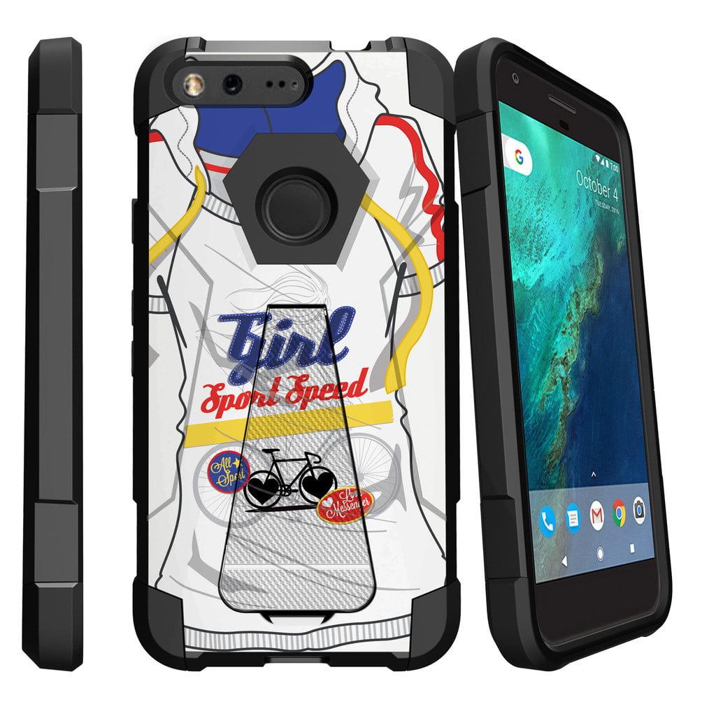 Google Pixel XL , Pixel XL Cover Shock Fusion Heavy Duty Dual Layer Kickstand Case -  Enveloping Green