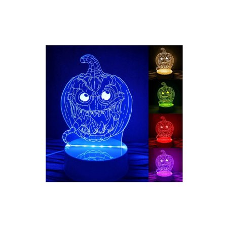 Led Ghost (Halloween Pumpkin Skull Witch Ghost  Light Lamp Party Decor LED Lantern 3D)