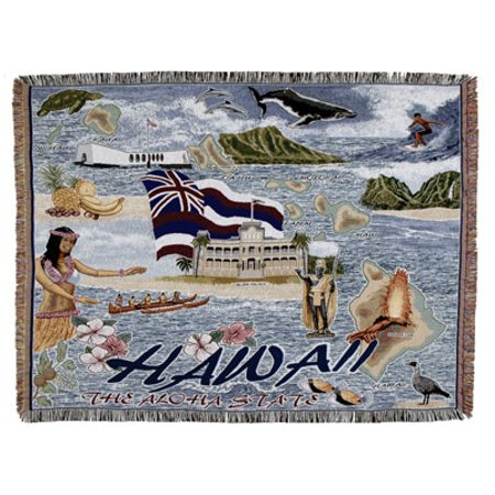 Tapestry Throw State of Hawaii Blanket