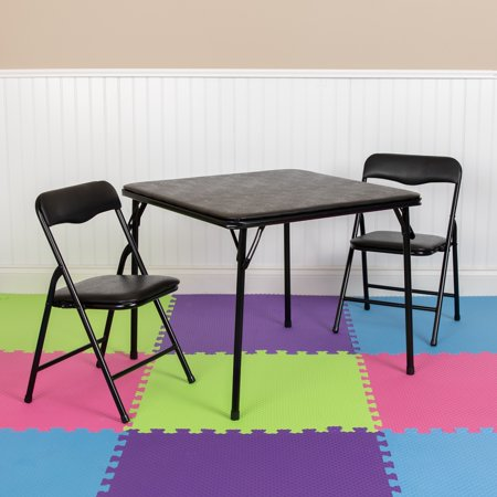 Lancaster Home Kids 3 Piece Folding Table and Chair Set - Kids Activity Table Set