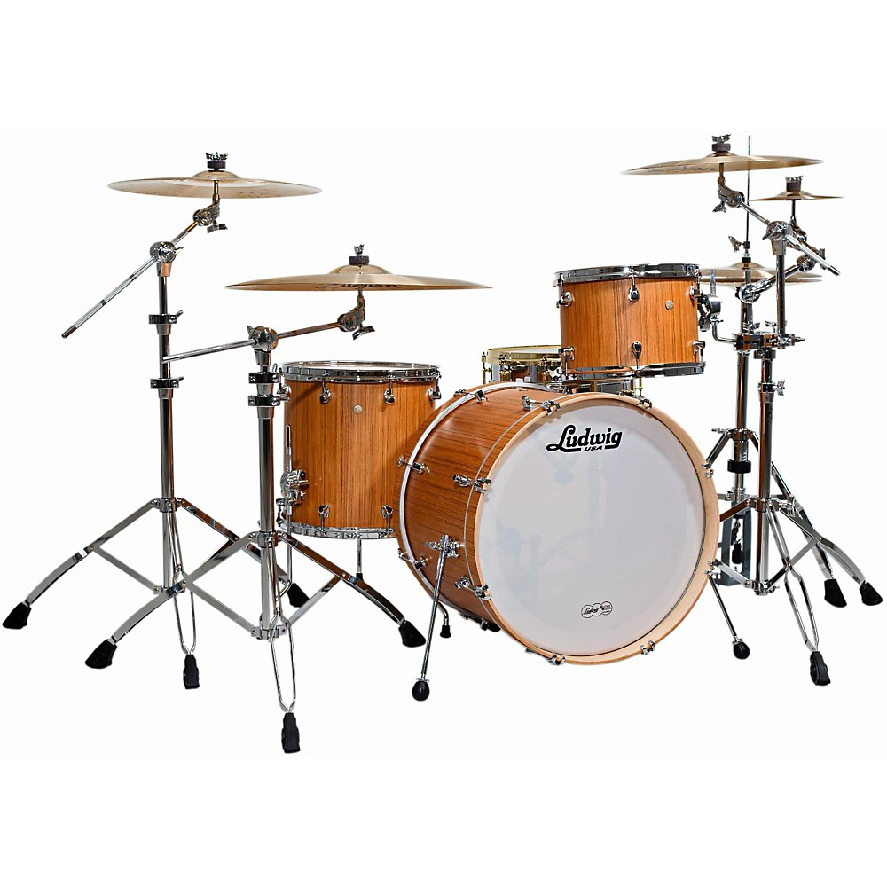 Ludwig Signet 105 Gigabeat 3-Piece Shell Pack Natural Teak by Ludwig