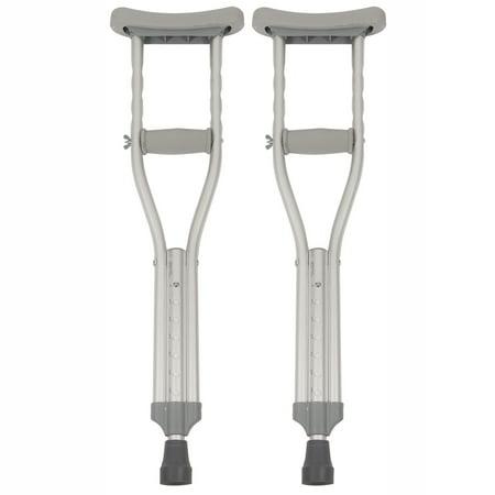 PCP Push-Button Crutches, Chrome, Child Size