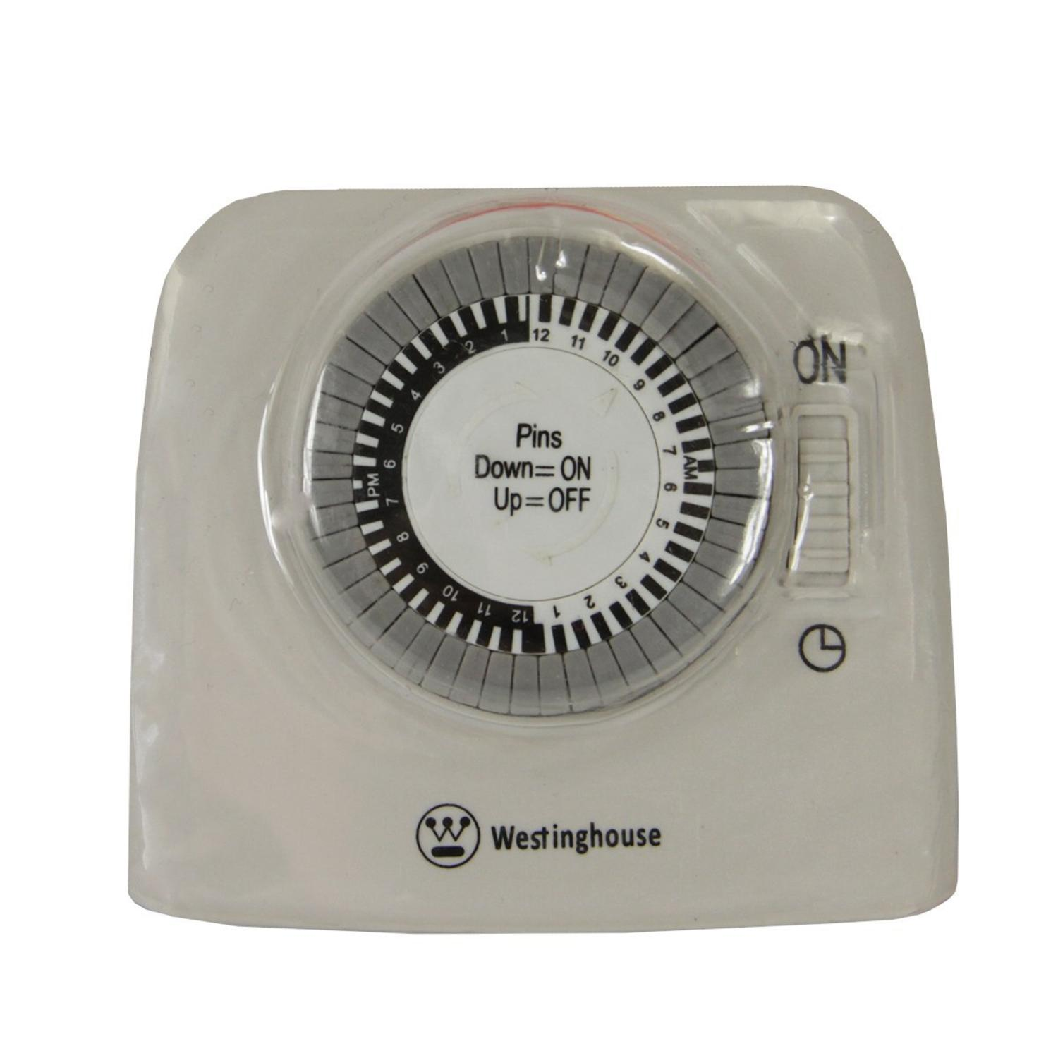 Westinghouse 2 Outlet 24 Hour Heavy Duty Mechanical Pin Lamp Timer