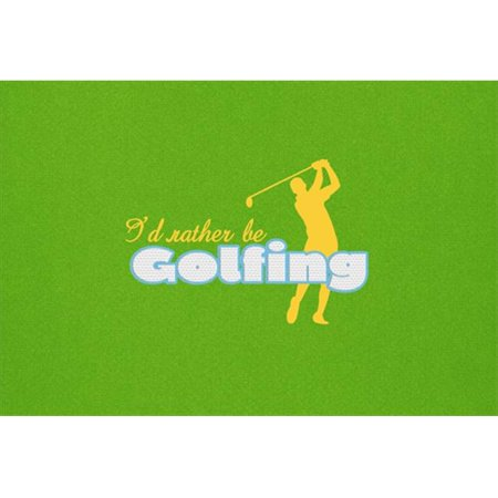 I Had Rather Be Golfing Man On Green Fabric Placemat - image 1 de 1