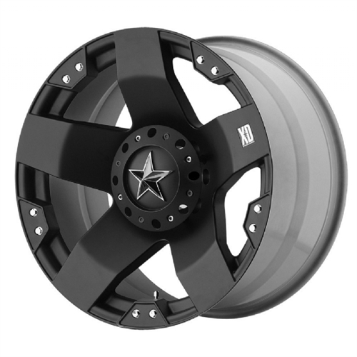 Wheel Pros XD775 Rockstar, 18x9 with 6 on 5.5 Bolt Pattern - Matte Black XD77589067300