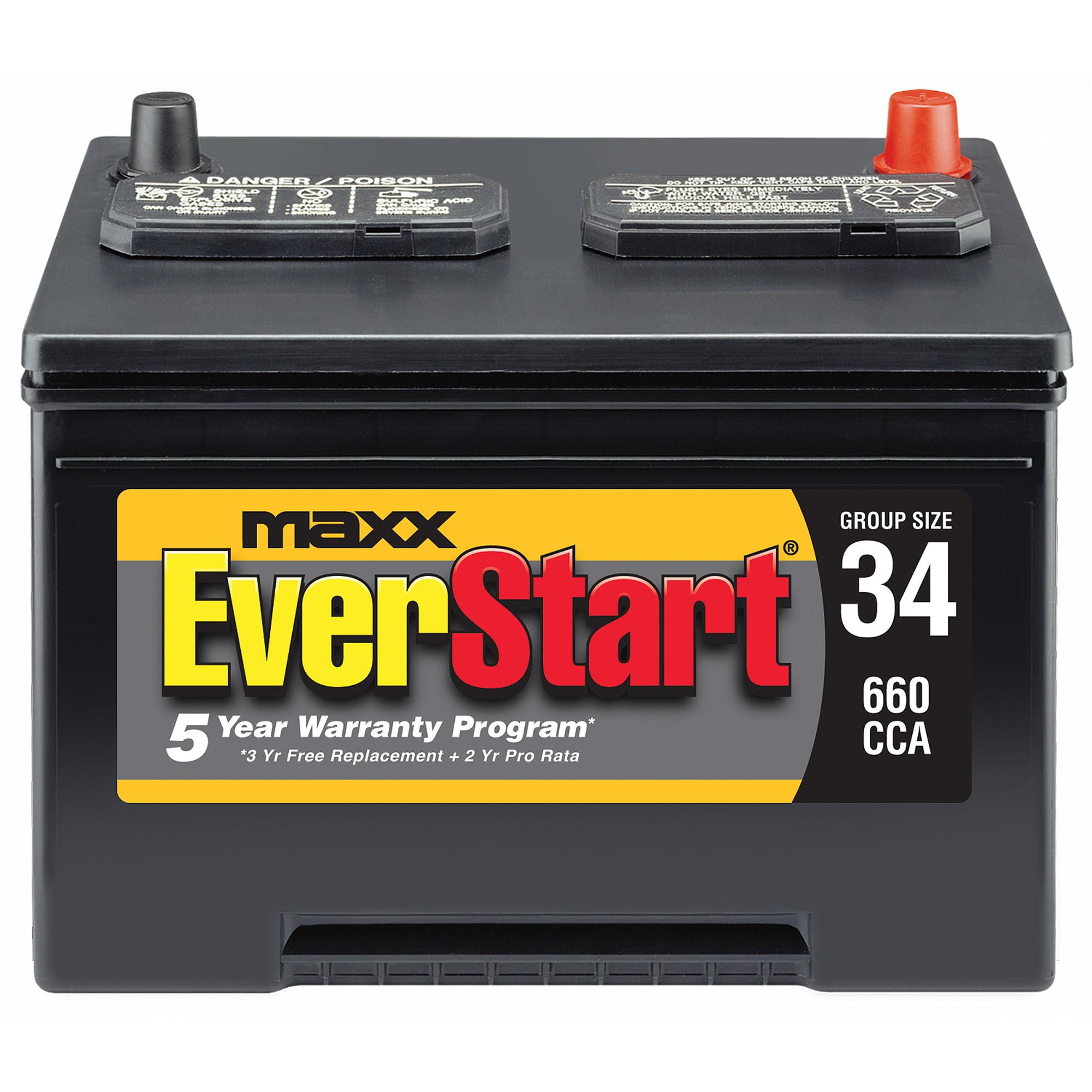 EverStart Maxx Lead Acid Automotive Battery Group 34s Walmart