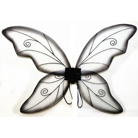 Black Adult Fantasy Butterfly Fairy Wings Tinkerbell Women Costume Accessory](Peacock Fairy Wings)