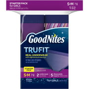 GoodNites TruFit Girls' Bedwetting Underwear, Night Time Protection Starter Pack (Choose Your Size)