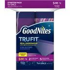 GoodNites TRU-FIT Bedwetting Underwear for Girls, Starter Kit (2 Pants   5 Inserts), Choose Your Size