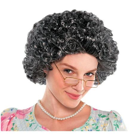 Amscan Curly Grandma Wig Halloween Costume Accessories