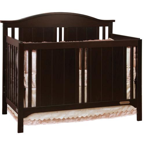 Child Craft Watterson 4-in-1 Convertible Fixed-Side Crib, Jamocha