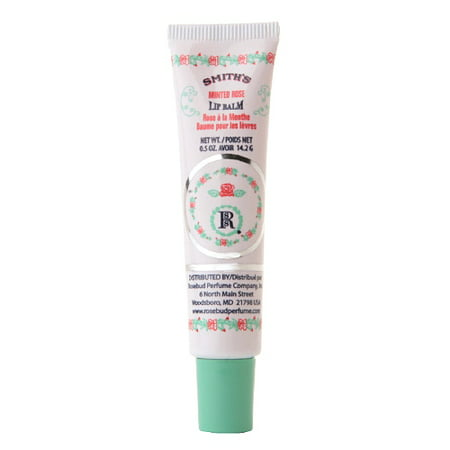 Rosebud Perfume Co. Smith's Minted Rose Lip Balm, 0.5oz
