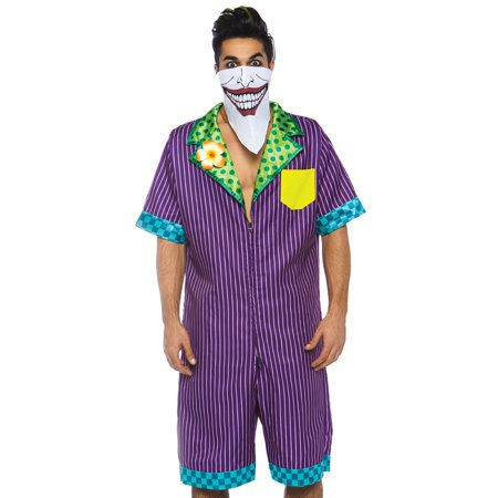Leg Avenue Men's 2 PC Joker Costume, Multi, X-Large