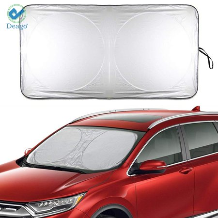 Deago Auto Car Sunshade Foldable Windshield Sun Shade Visor for Heat Block Wind Shield Screen UV Rays Full Protection, Trucks SUVs Vans(74.8