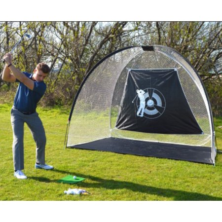 UBesGoo 10'x6.1'x6' Golf Net, Training Aids Hitting Practice Nets Cage, with Target Zone, for Backyard Driving Range Indoor Use
