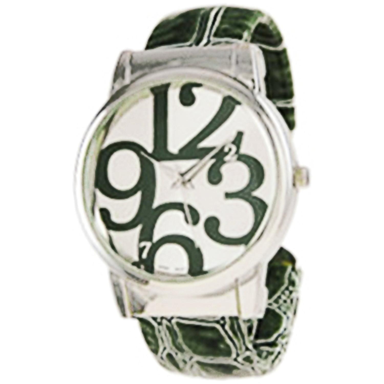 Geneva Women's 6396.DarkGreen Green Plastic Quartz Fashio...