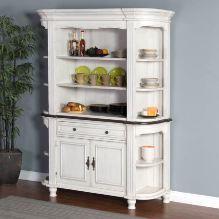 Sunny Designs Bourbon French Country Buffet with Hutch