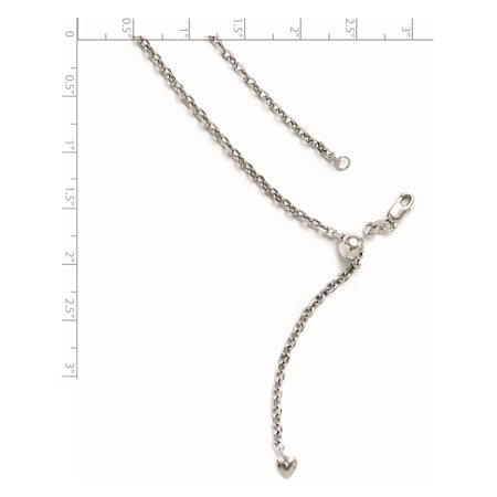 Leslie 14K White Gold 2.5 mm Adjustable Semi Solid D/C Cable Chain - image 1 of 2