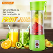 380ml USB Mini Vegetable Fruit Extractor Mixer Cup Portable Handheld Smoothie Maker Electric Rechargeable Mixer Cup for Outdoor Sporting Camping DIY Bottle