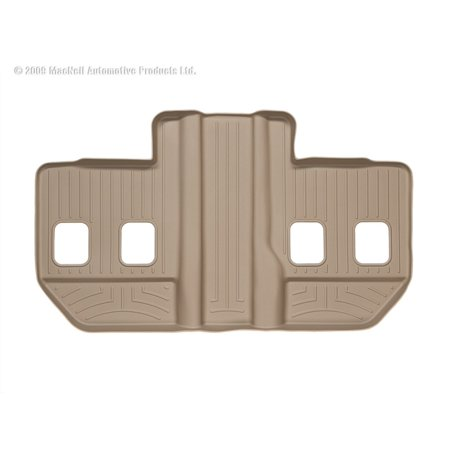 WeatherTech 07-13 Cadillac Escalade ESV Rear FloorLiner - Tan 1500 Weathertech Rear Floor