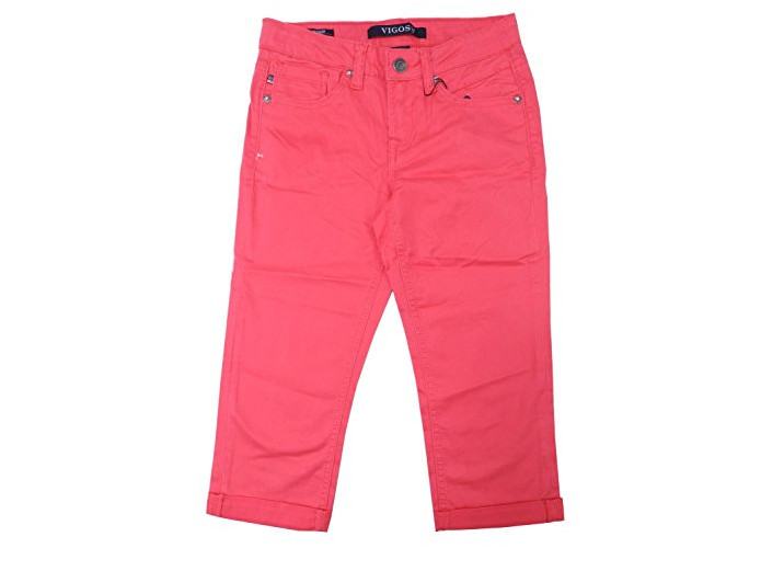 Vigoss Jeans Girls New HI//LO Style Short Pink