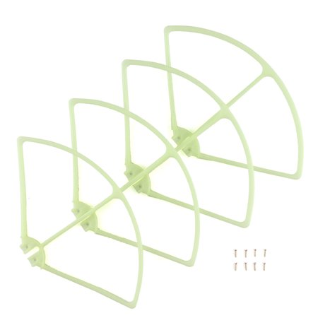 4 PCS Syma X8C/W/G X8HC X8HW X8HG Plastic Quadcopter Propeller Guard Protection Frame RC Aircraft Helicopters Parts Toy Hobbies Accessories (Green) (Helicopter Accessories Tools)