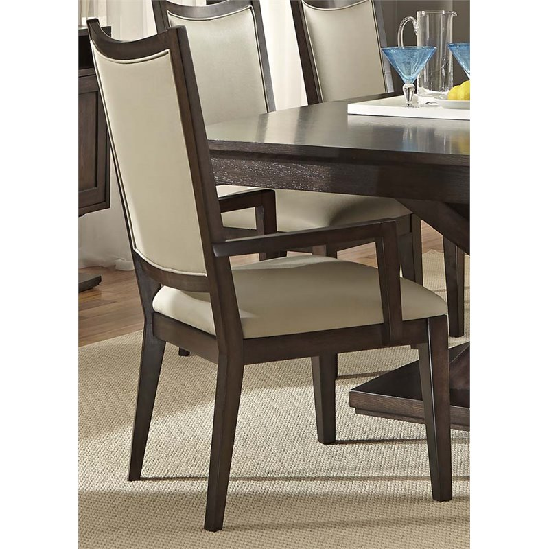 Liberty Furniture Southpark Upholstered Dining Armchair in Charcoal by Liberty Furniture