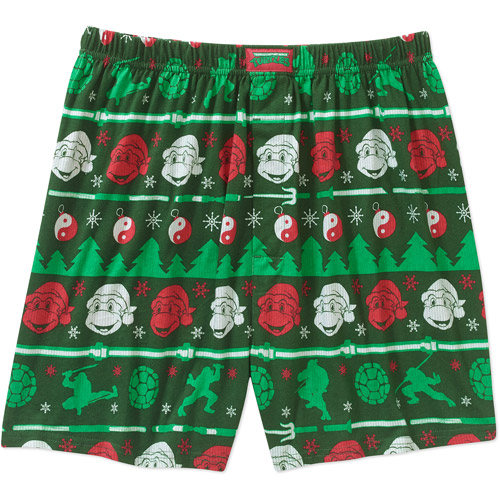 Teenage Mutant Ninja Turtles Mens Green Christmas Boxers Shorts