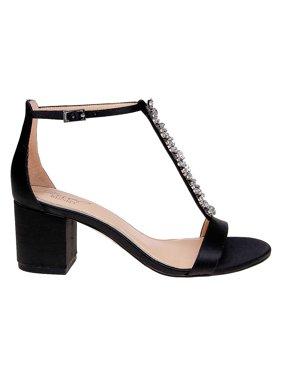 Lindsey Embellished Satin Sandals