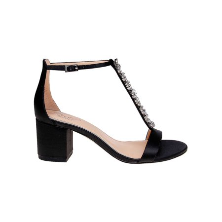 Lindsey Embellished Satin Sandals Satin Prom Sandals