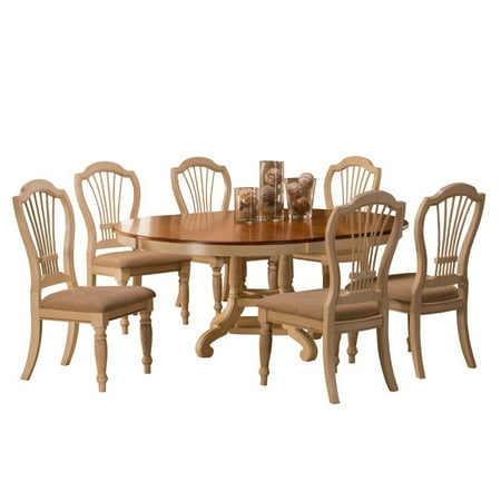 Hilale Furniture Wilshire 7 Piece Round Dining Set With Side Chairs Multiple Colors