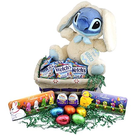 Easter basket disney stitch easter plush 18 inch easter eggs easter basket disney stitch easter plush 18 inch easter eggs chocolates candies negle Images