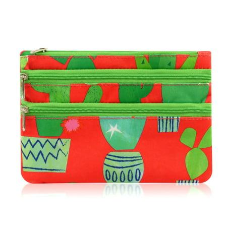 Zodaca Women Fashion Portable Zip Closure Coin Purse Wallet Pouch Bag Card Holder ()