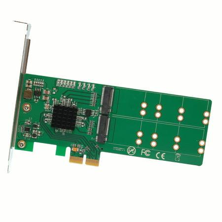 IO Crest 4 Port M.2 SSD to Pci-E X2 B or B+M Key Adapter Card (SI-PEX40116)