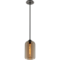 RLA Troy RL-160663 Pendants Satin Black Hand-Worked Iron and Glass District