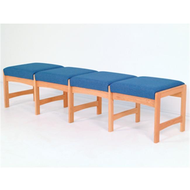Wooden Mallet DW5-4DLOAS Four Seat Bench in Light Oak - Arch Slate