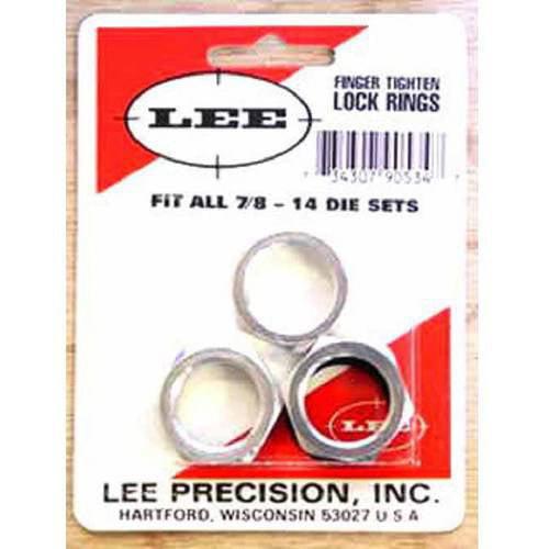 Lee Precision 7/8-14 Self Lock Ring, Package of 3