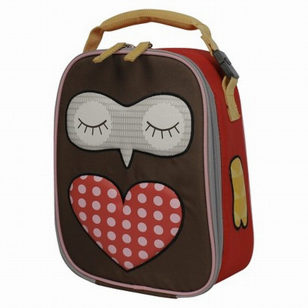 Circo Brown & Red Hoot Owl Lunch Box Insulated Lunch Bag Lunchbox