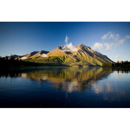 Kings Throne Mountain And Kathleen Lake Kluane National Park Yukon PosterPrint